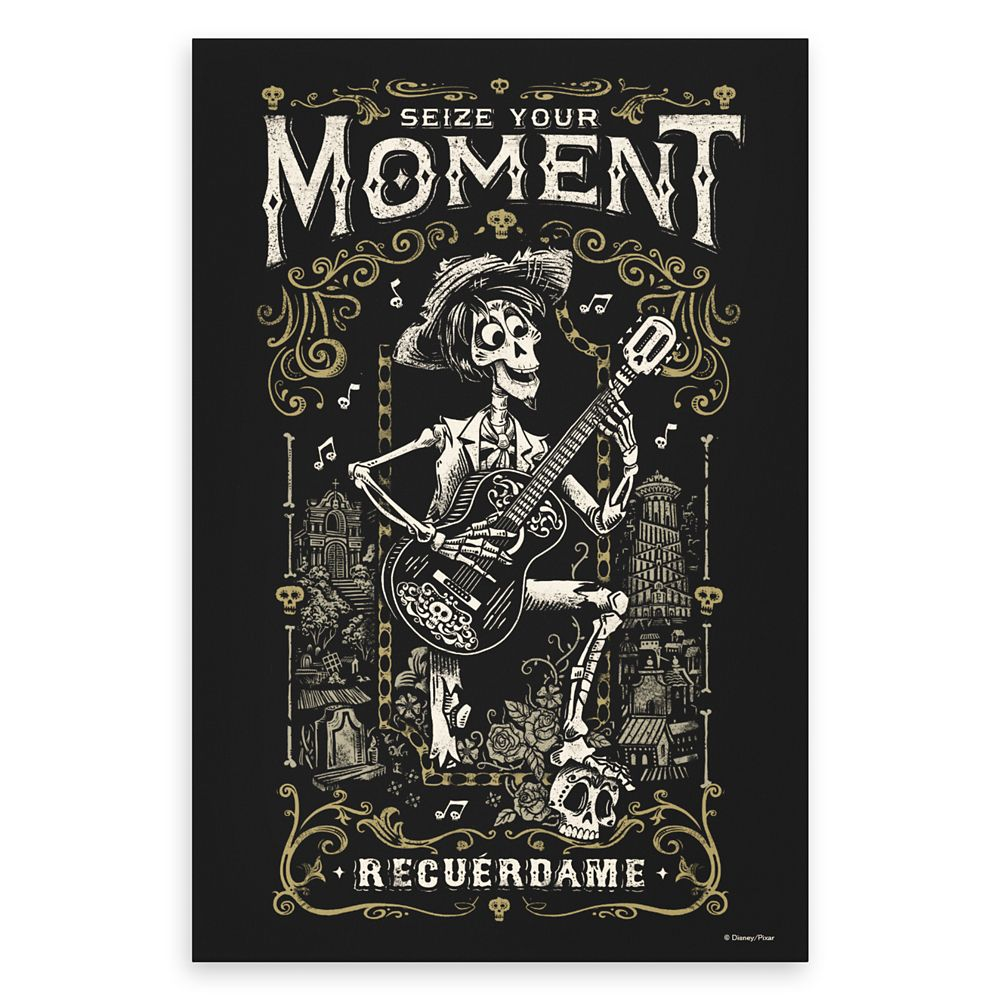 Hector Seize Your Moment Recuerdame Canvas Print – Coco – Customizable