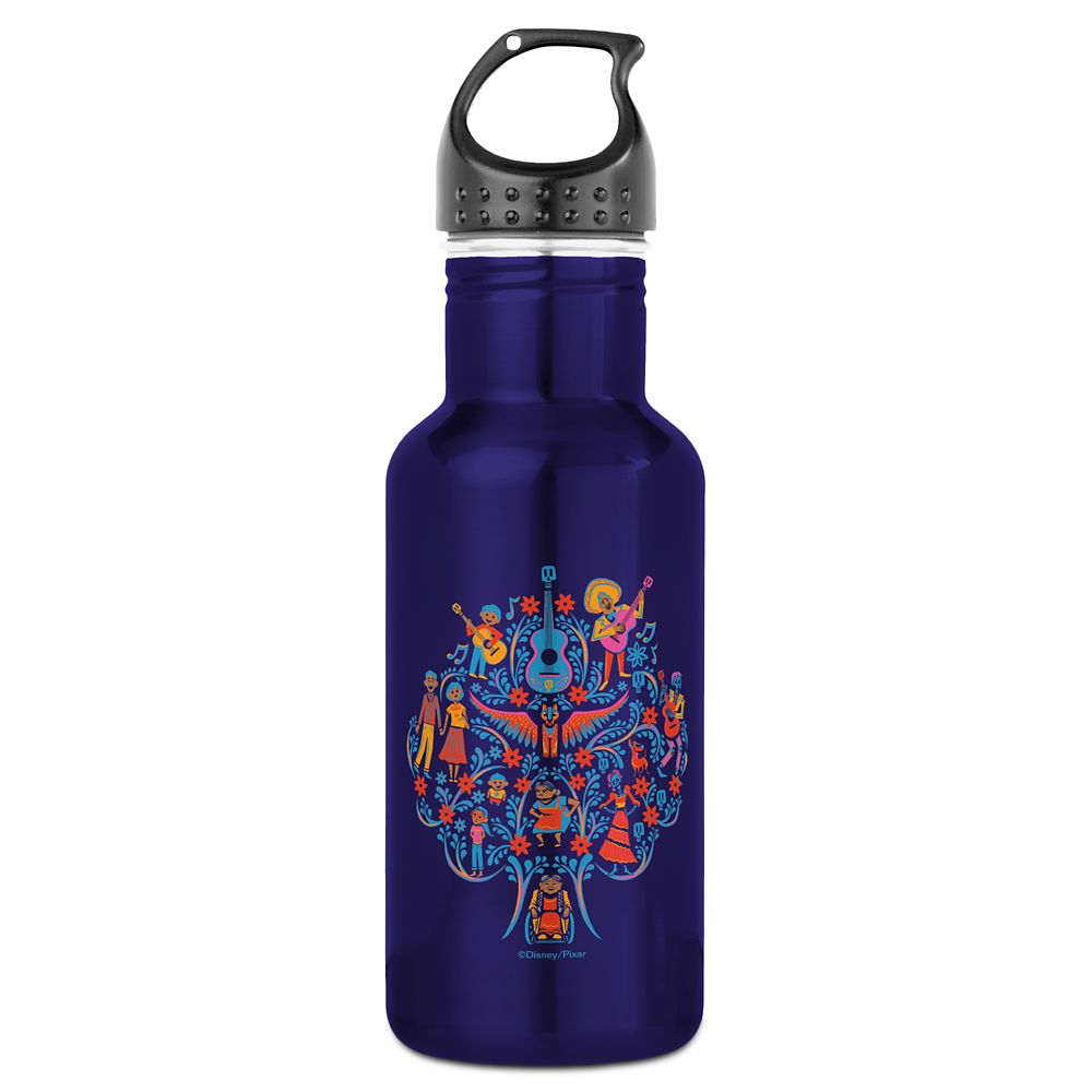 Coco Colorful Character Tree Graphic Water Bottle – Customizable