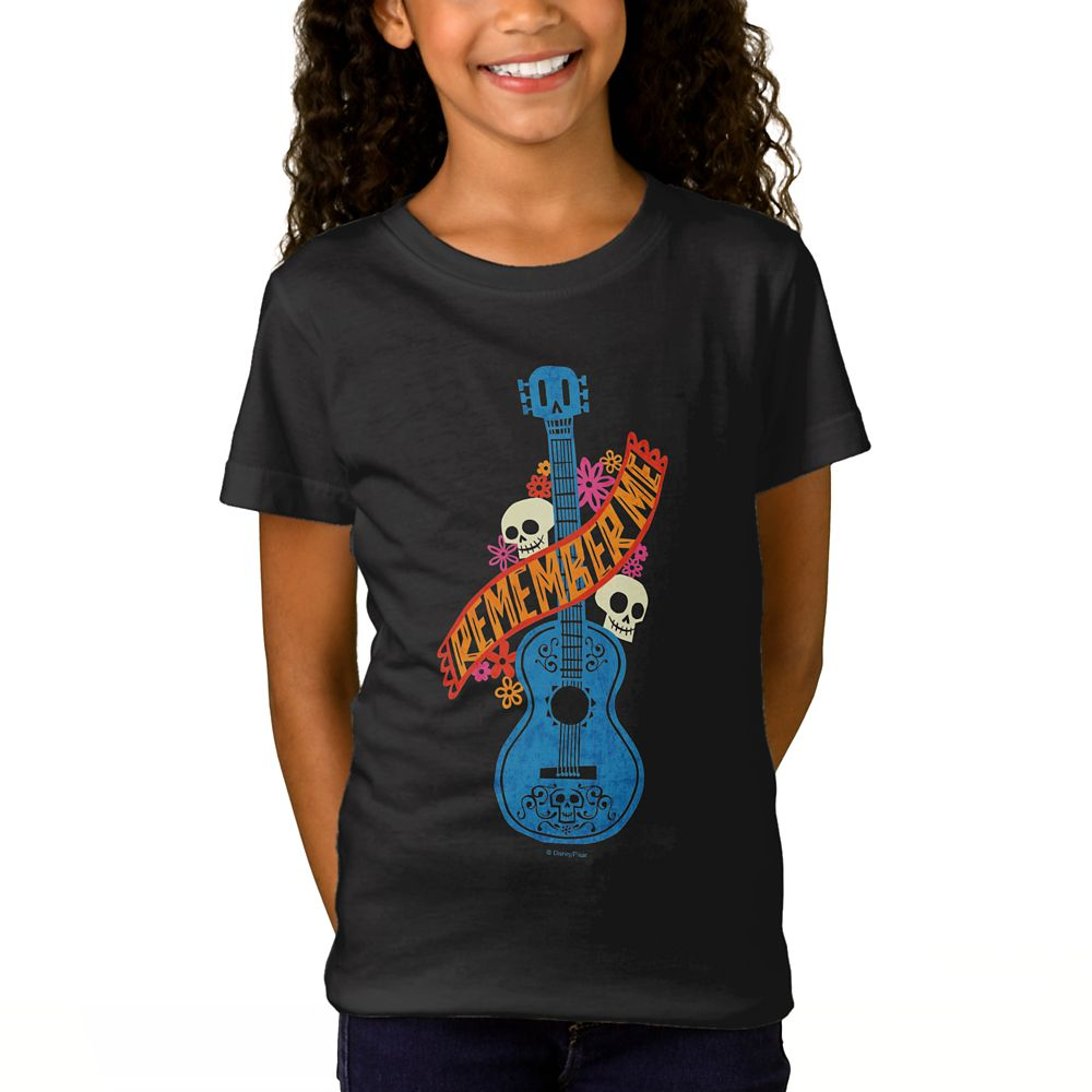 Coco Remember Me Guitar Graphic T-Shirt for Girls – Customizable