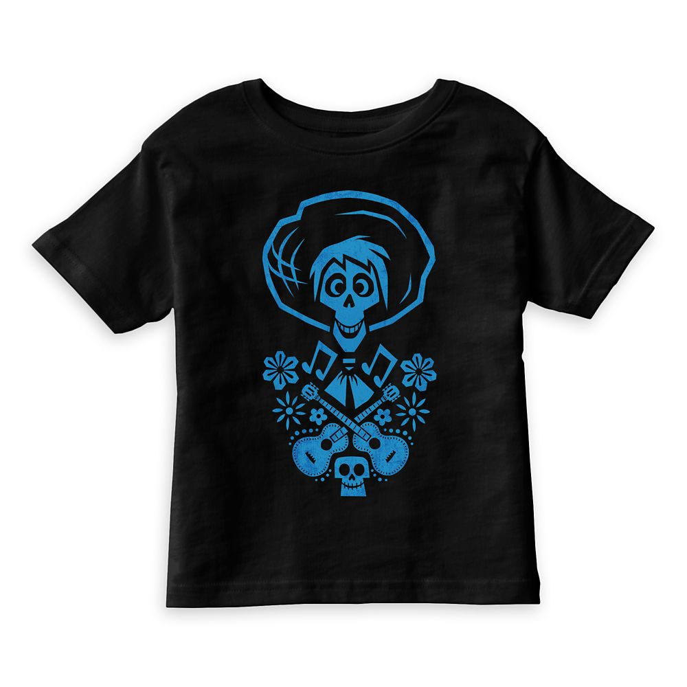 Hector Blue Guitar Graphic T-Shirt for Kids – Coco – Customizable