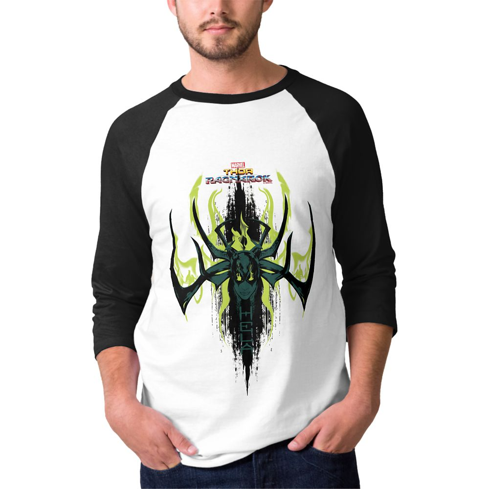 Thor: Ragnarok Hela Green Flames Raglan Tee  Men  Customizable Official shopDisney