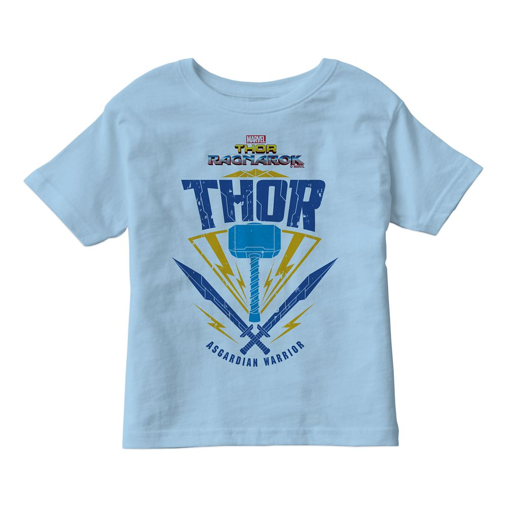 Thor: Ragnarok Asgardian Warrior Weapon Graphic T-Shirt for Kids – Customizable