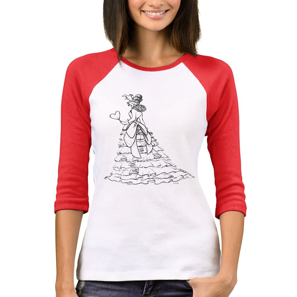 Queen of Hearts Raglan T-Shirt for Women – Art of Disney Villains Designer Collection