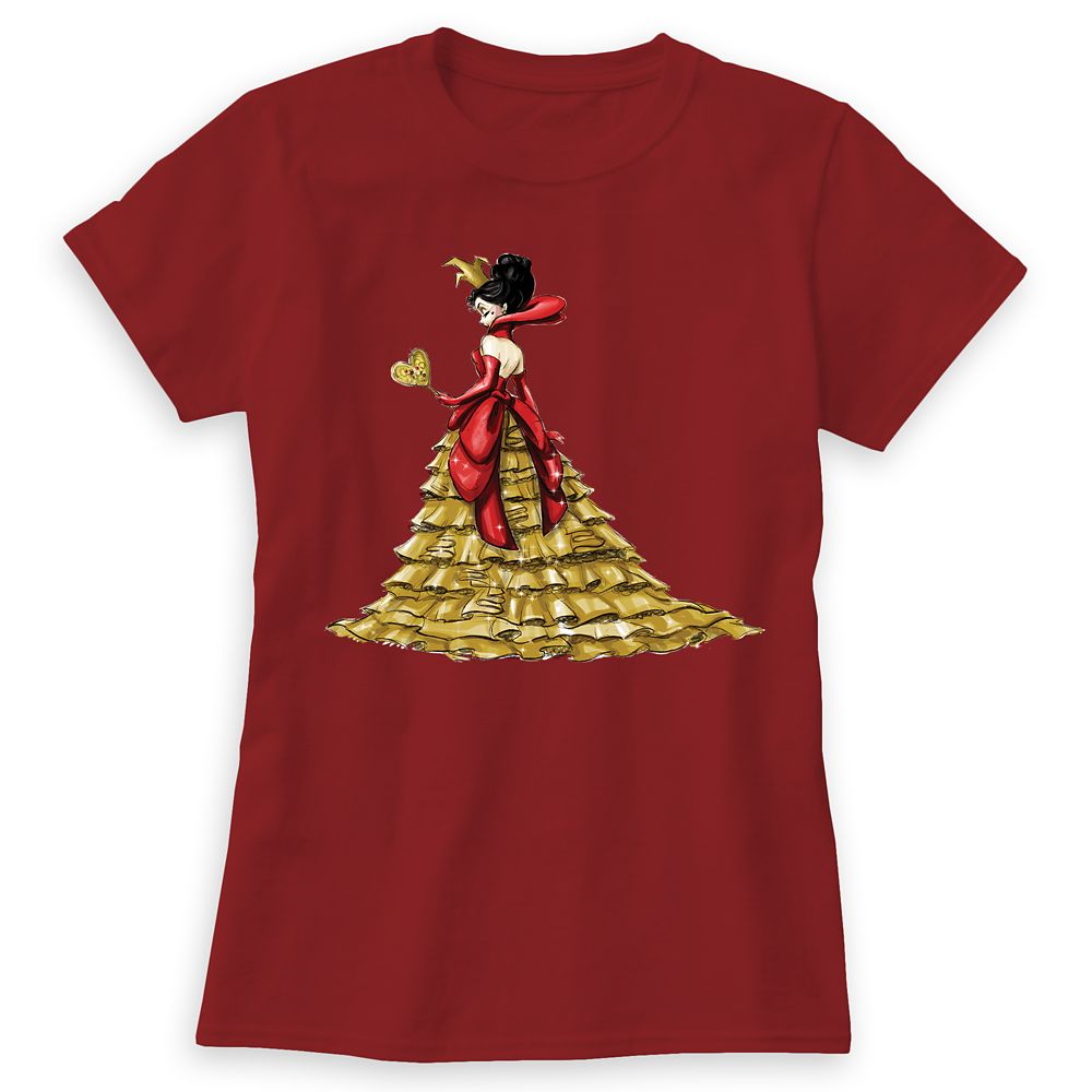 Queen of Hearts T-Shirt – Art of Disney Villains Designer Collection – Women
