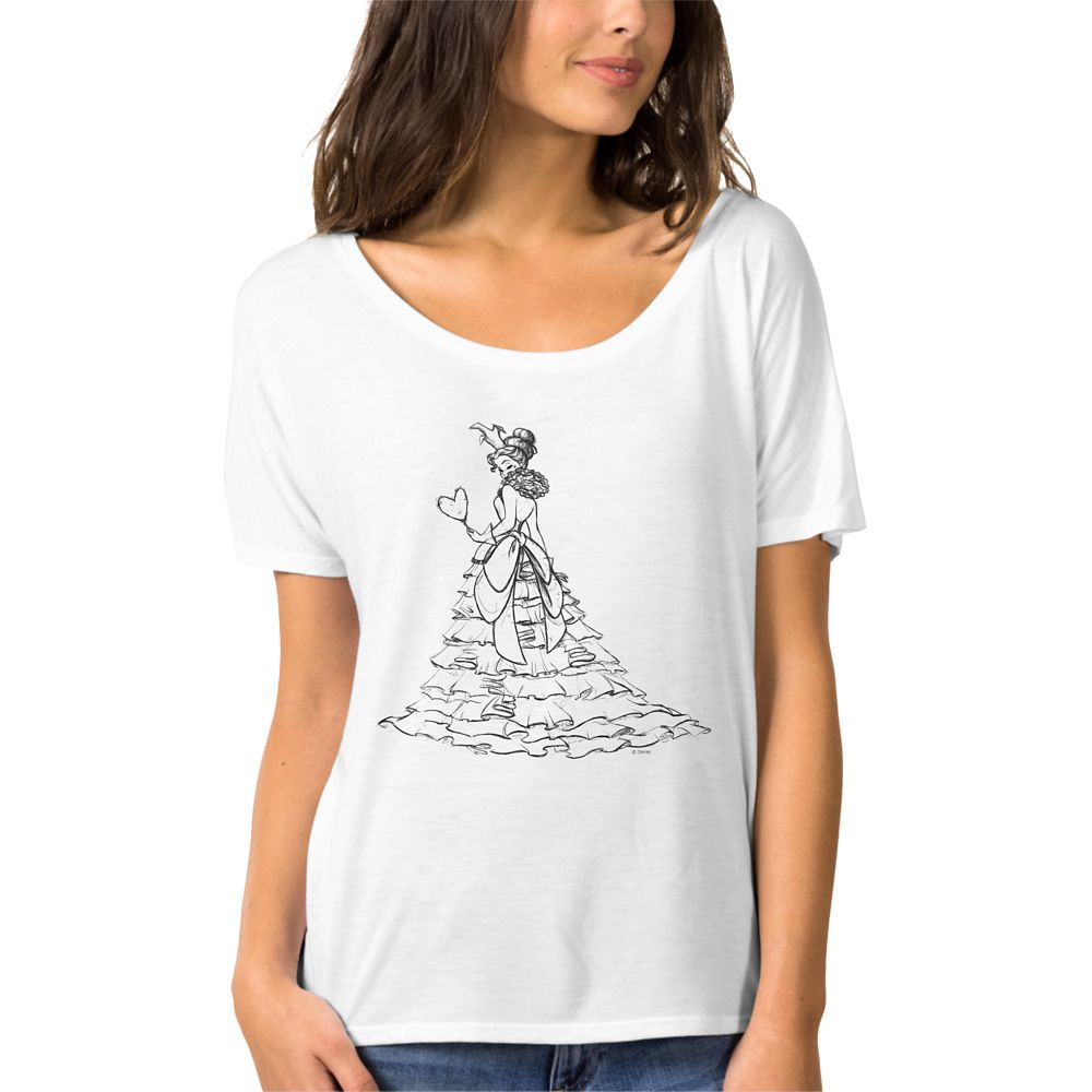 Queen of Hearts Slouchy Boyfriend T-shirt – Art of Disney Villains Designer Collection – Women
