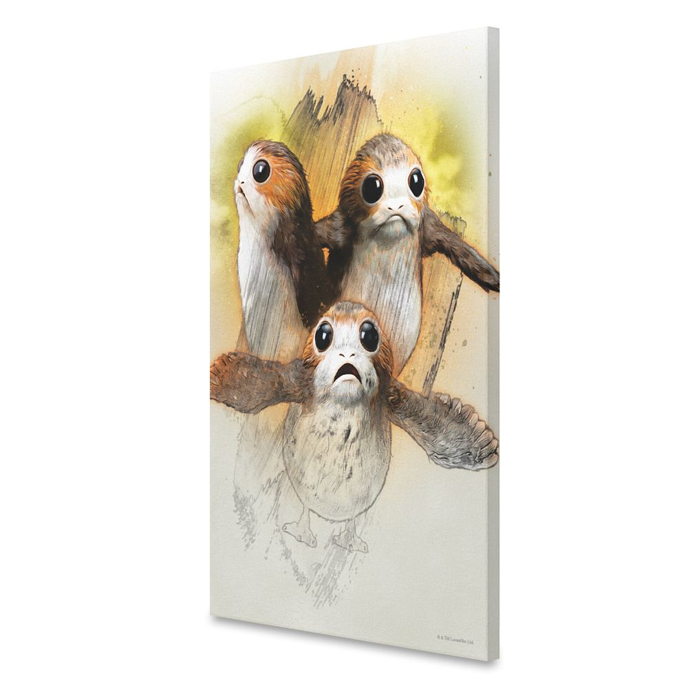 Porgs Sketch Canvas Print – Star Wars: The Last Jedi – Customizable