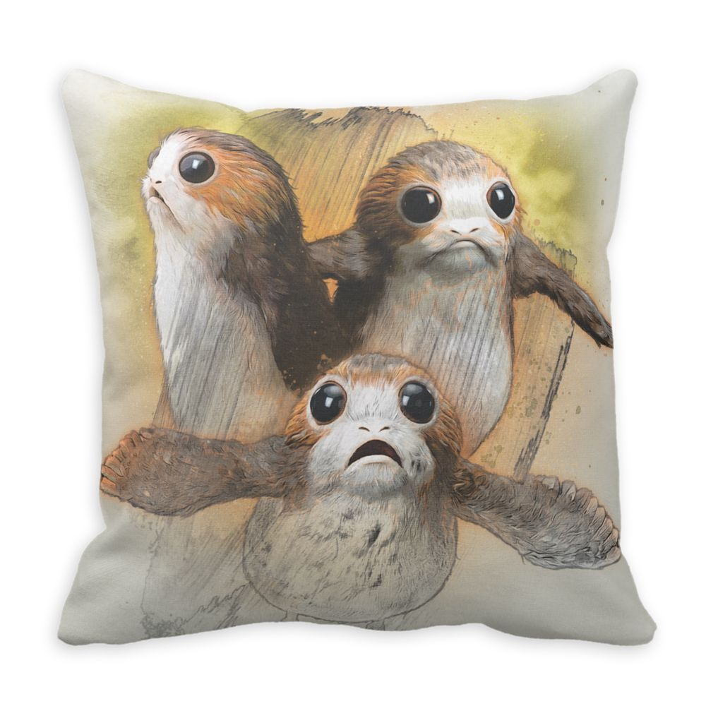 Porgs Sketch Pillow – Star Wars: The Last Jedi – Customizable