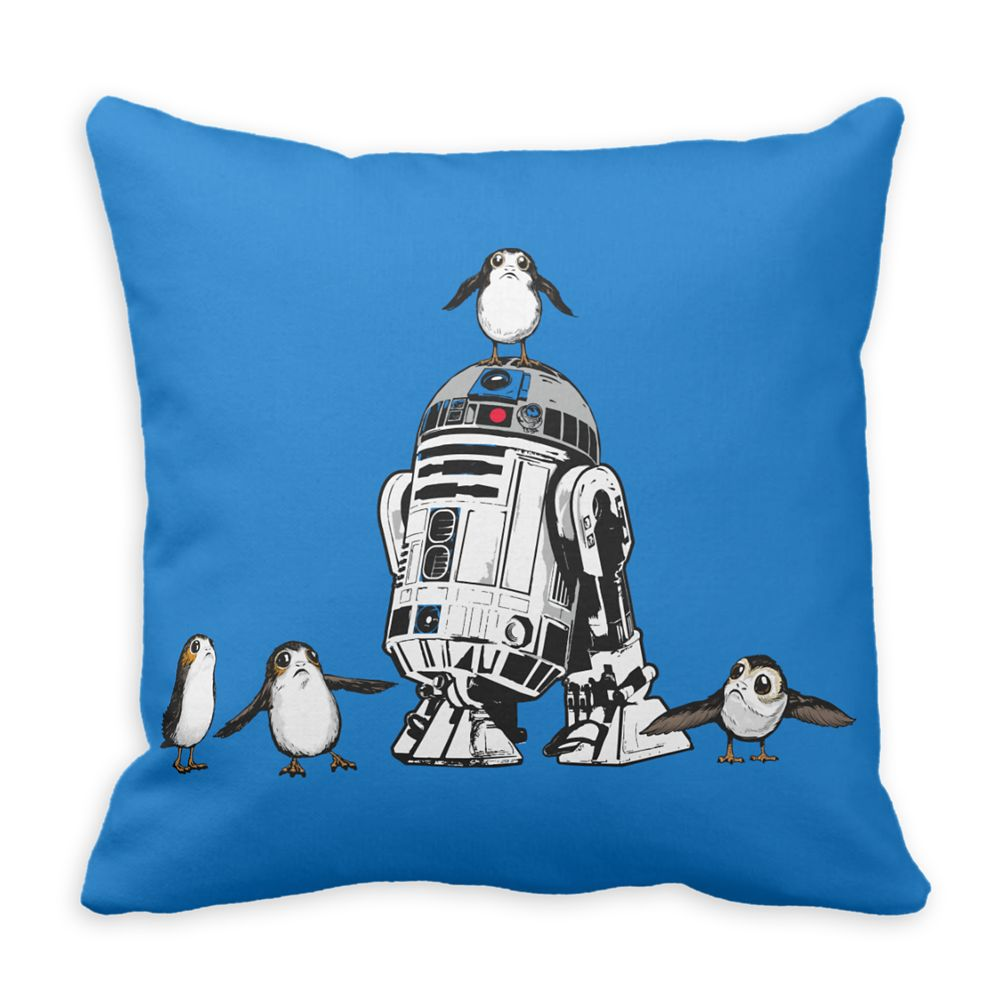 R2-D2 and Porgs Pillow – Star Wars: The Last Jedi – Customizable