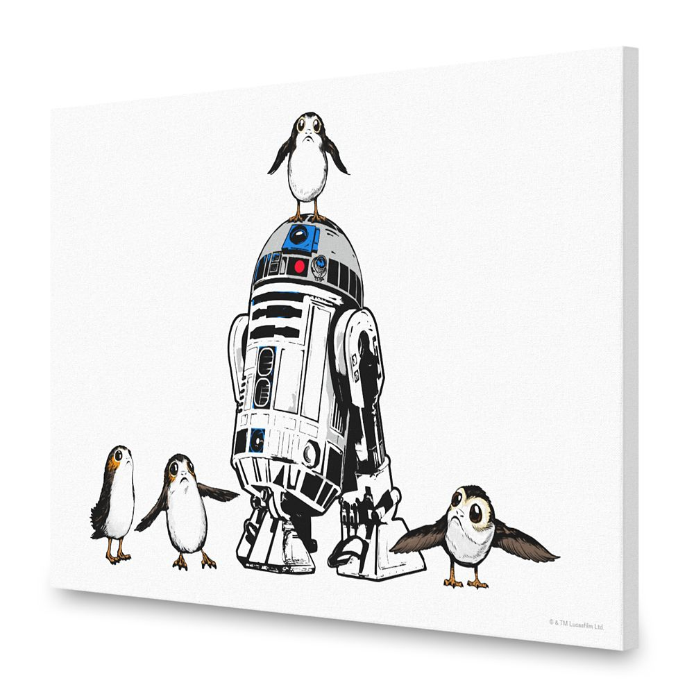 R2-D2 and Porgs Canvas Print – Star Wars: The Last Jedi – Customizable