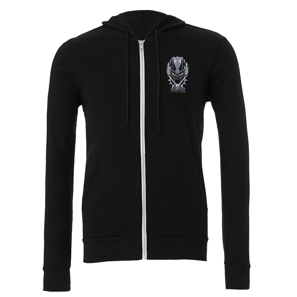 Black Panther Emblem Zip Hoodie for Men – Customizable