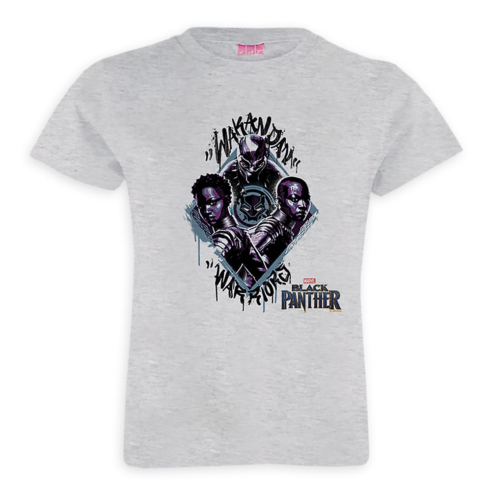 Black Panther Wakandan Warriors T-Shirt for Girls – Customizable
