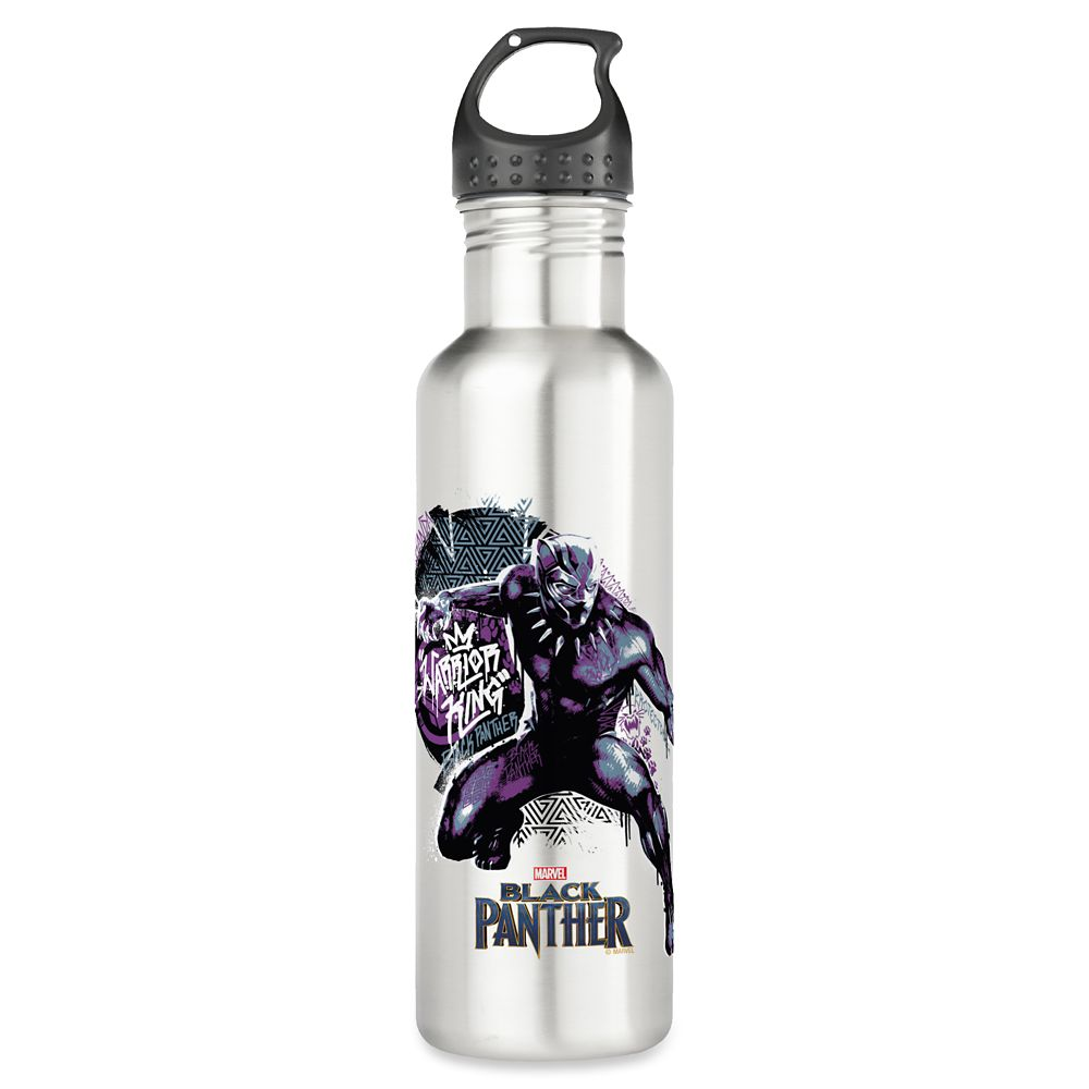 Black Panther Warrior King Water Bottle – Customizable