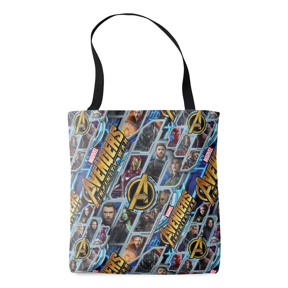 35 Amazing Marvel Gift Ideas featured by top US Disney blogger, Marcie and the Mouse: Marvel's Avengers: Infinity War Allover Print Tote Bag Customizable Official shopDisney