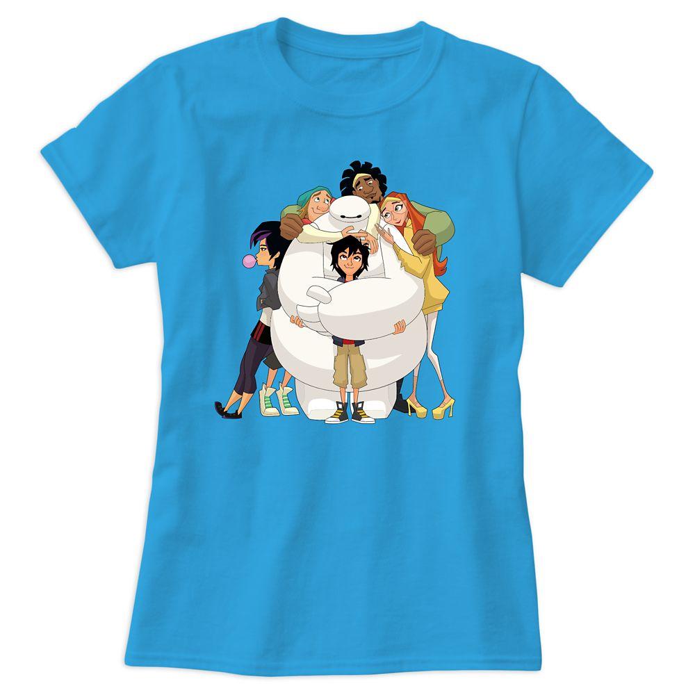 Disney Store Big Hero 6 Baymax /& Mochi Cat T Shirt Tee Girls Size 2//3 4 5//6 7//8