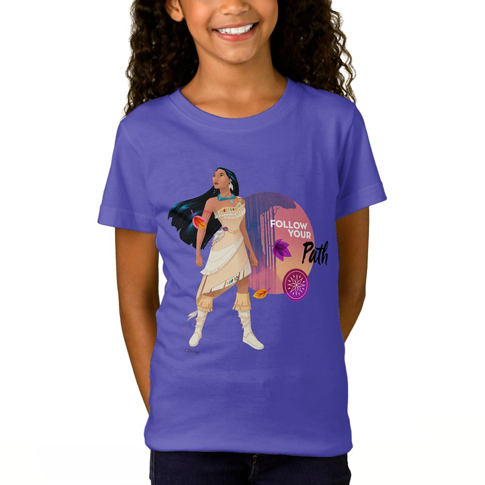 Pocahontas ''Follow Your Path'' T-Shirt for Girls  Customizable Official shopDisney