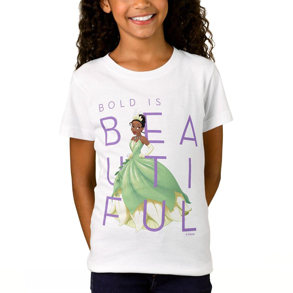 Tiana Bold is Beautiful T-Shirt for Girls  Customizable Official shopDisney