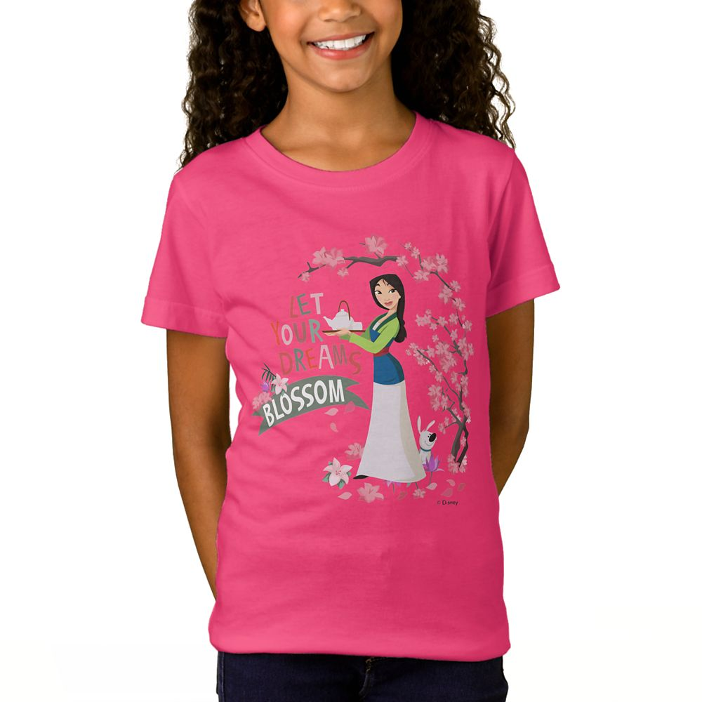 Mulan ''Let Your Dreams Blossom'' T-Shirt for Girls – Customizable