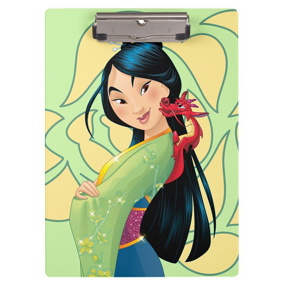 Mulan and Mushu Clipboard  Customizable Official shopDisney