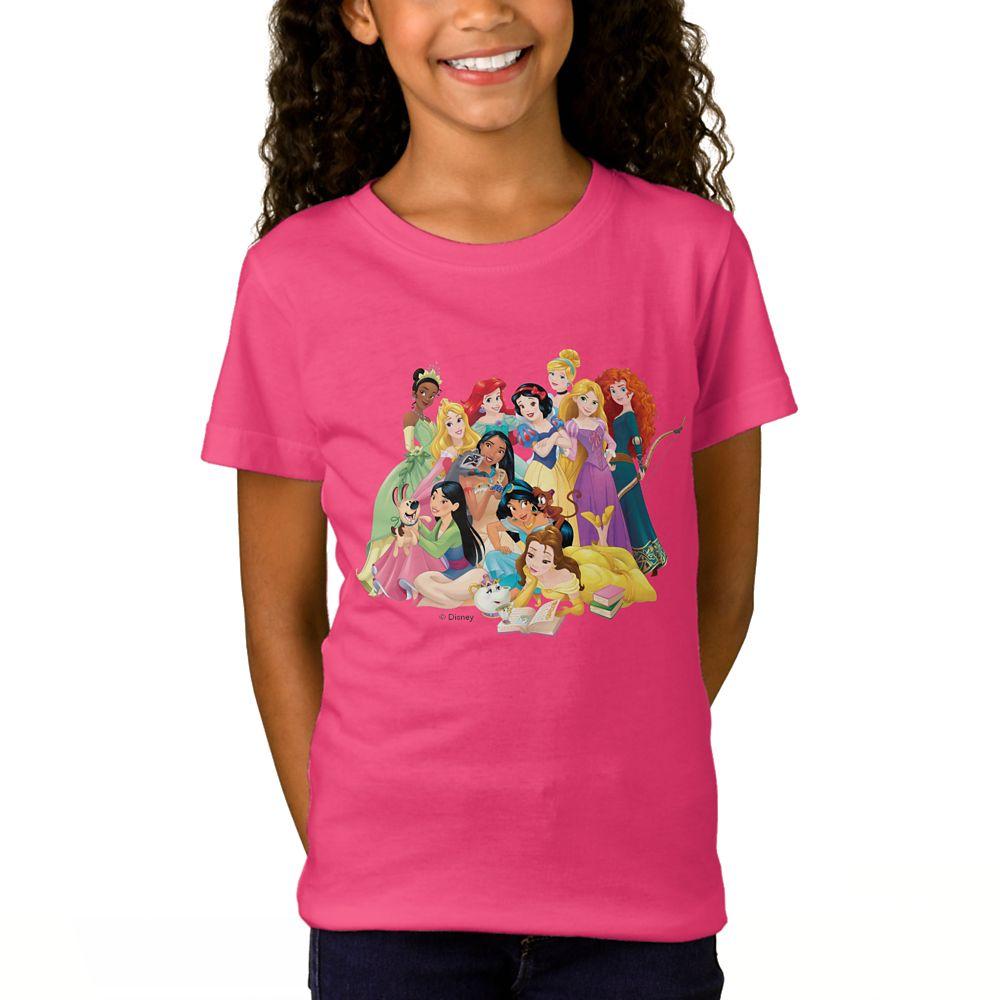 Disney Princess ''Adventure Begins Here'' T-Shirt for Girls – Customizable