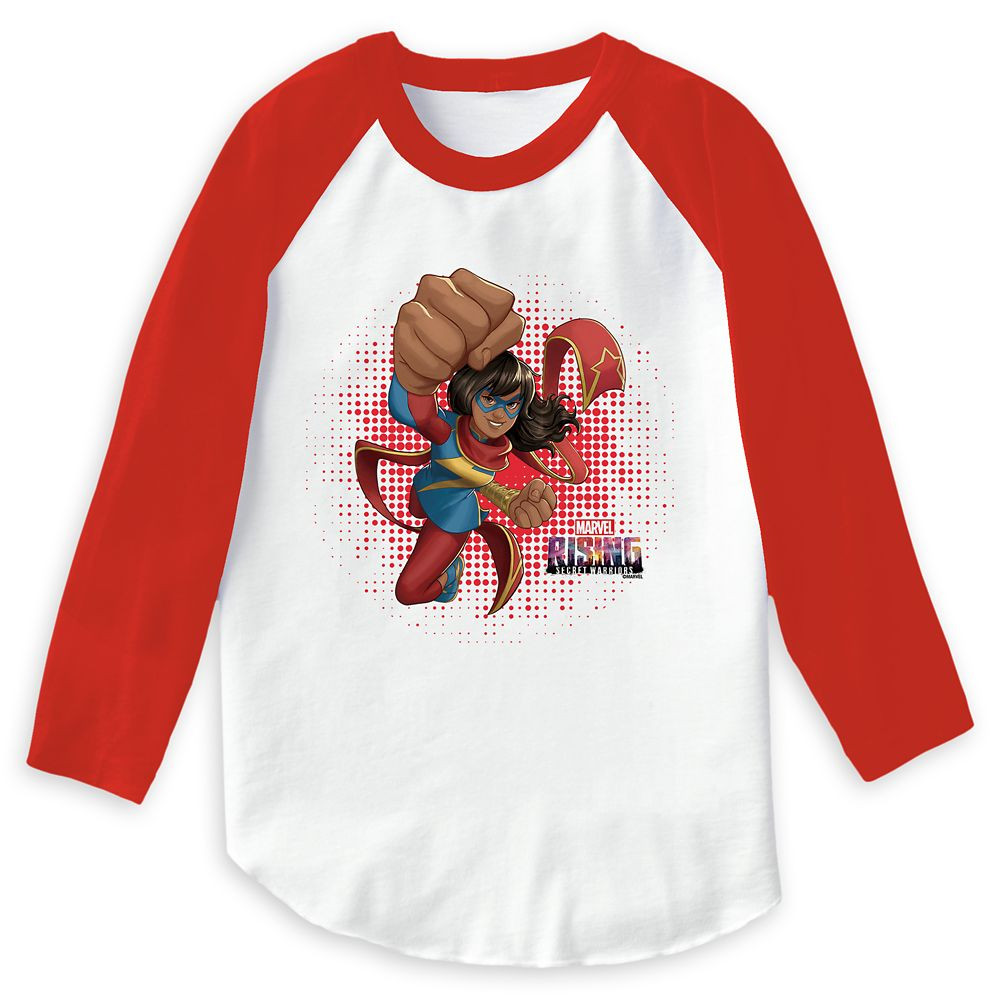 Ms. Marvel Flying Punch T-Shirt for Girls – Marvel Rising – Customizable