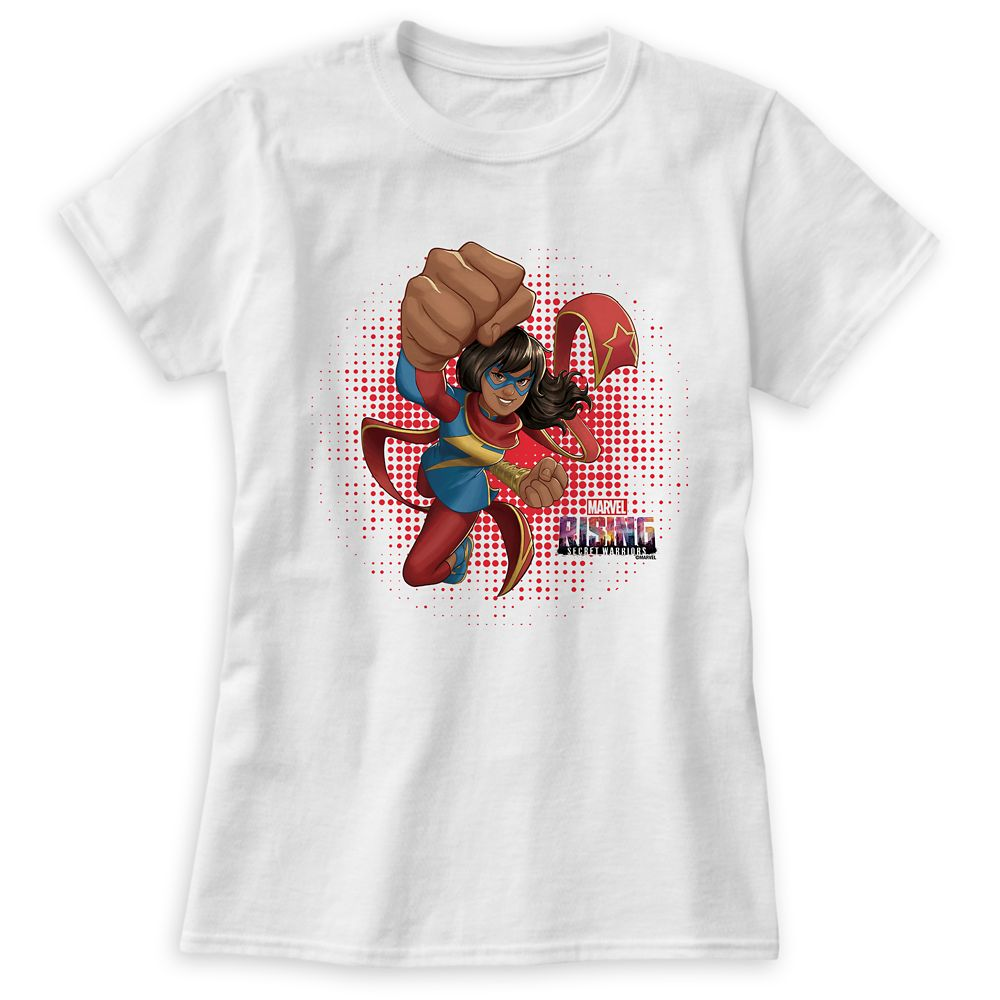 Ms. Marvel Flying Punch T-Shirt for Women – Marvel Rising – Customizable