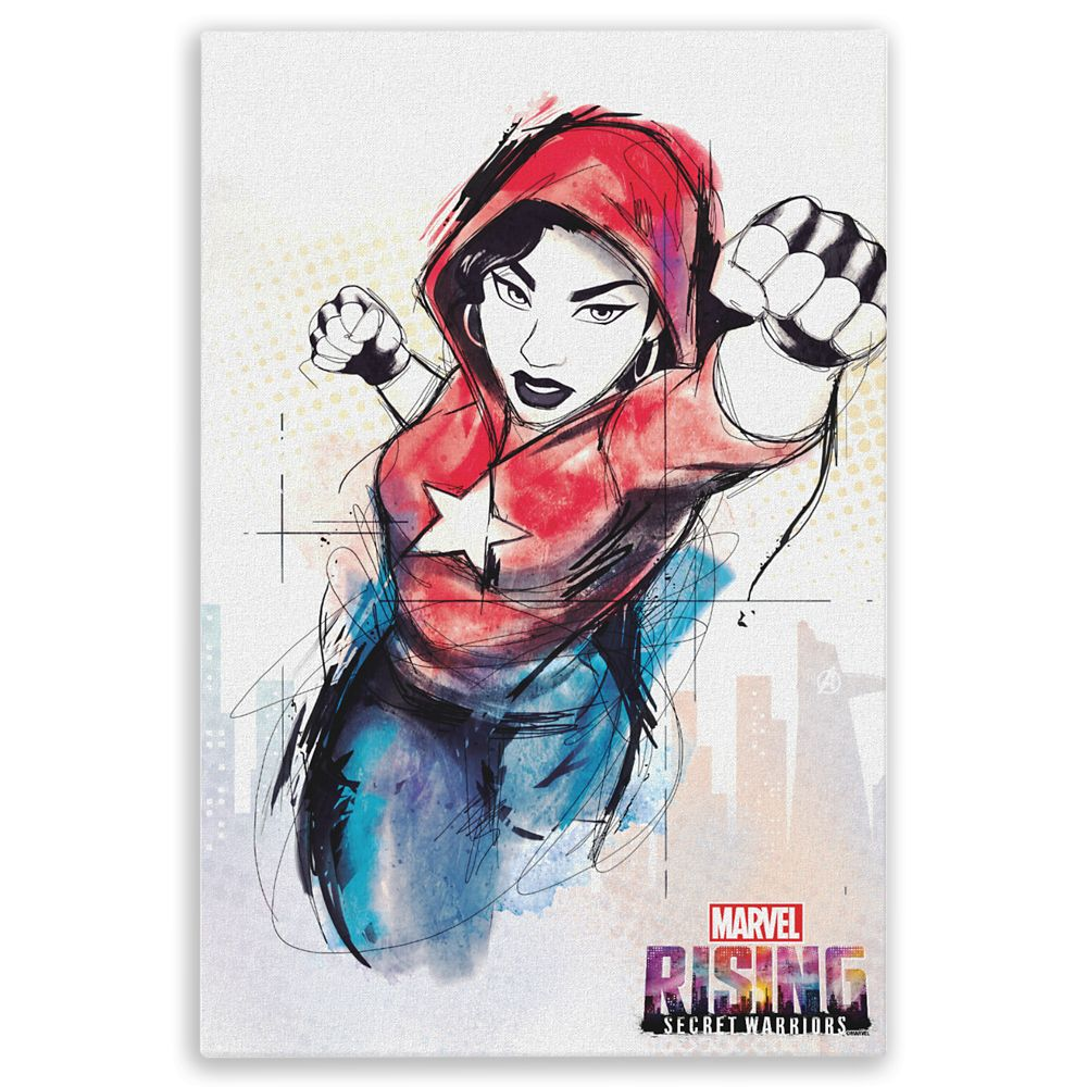 America Chavez Canvas Print – Marvel Rising – Customizable