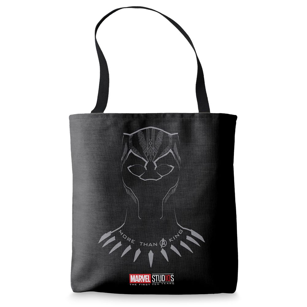 "shopdisney.com - Black Panther ""More than a King"" Tote Bag  Customizable Official shopDisney 19.95 USD"