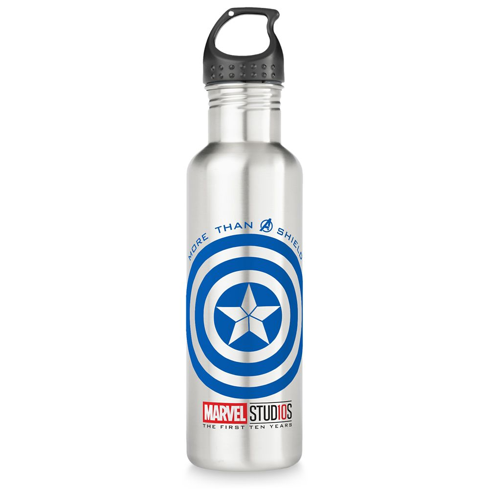 Captain America ''More than a Shield'' Water Bottle – Customizable