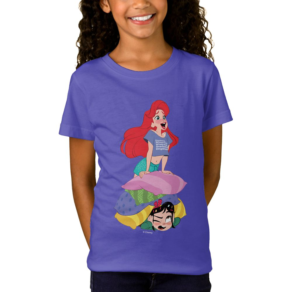Ralph Breaks the Internet Vanellope and Ariel T-Shirt for Girls  Customizable Official shopDisney