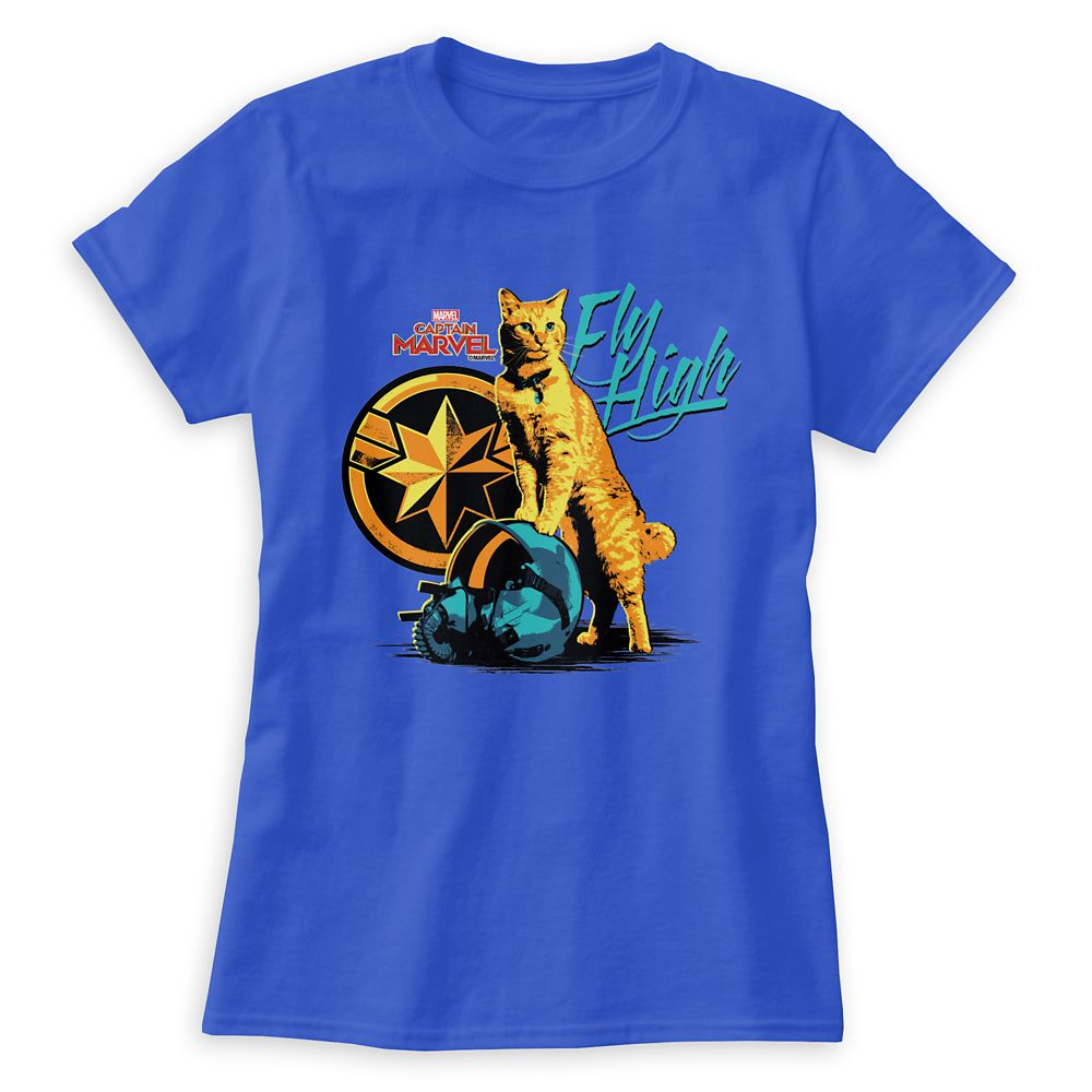 Marvel's Captain Marvel Goose on Helmet ''Fly High'' T-Shirt for Women – Customizable