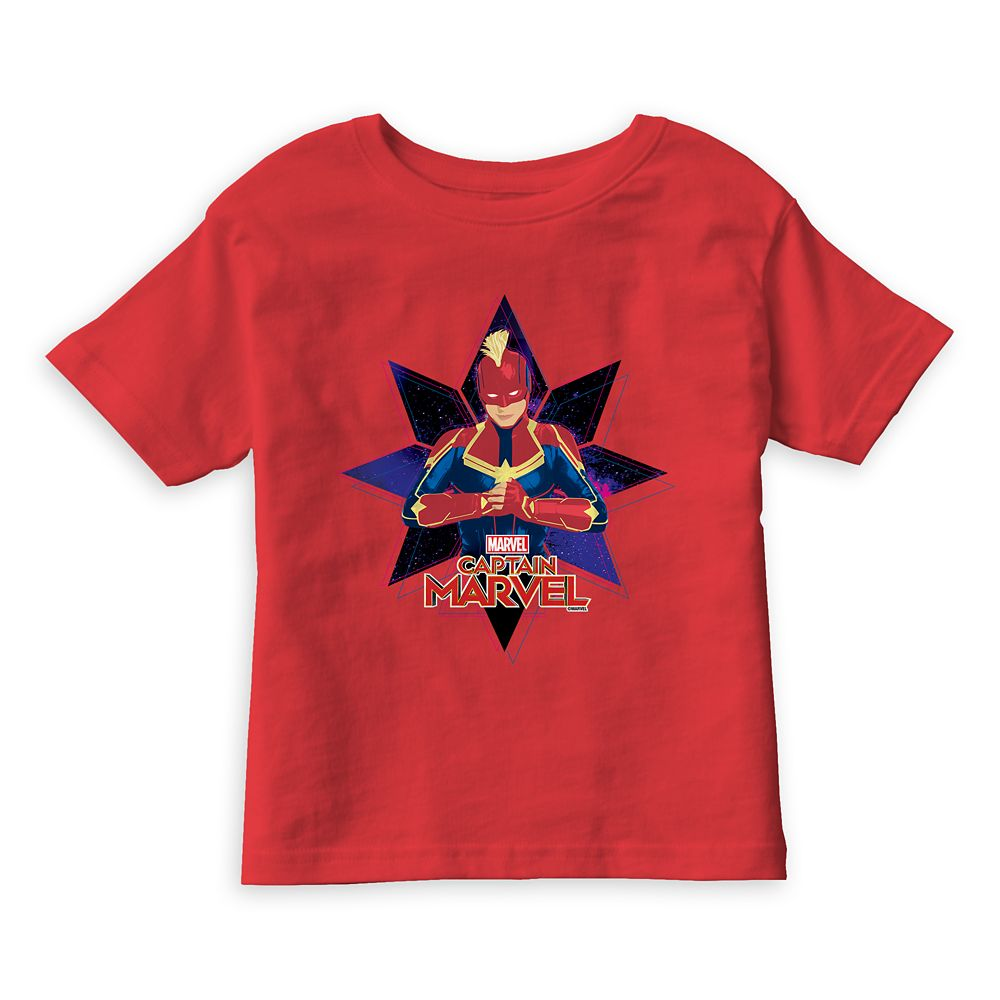 Marvel's Captain Marvel Galactic Star Character Graphic T-Shirt for Boys
