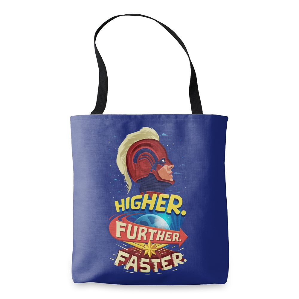 Marvel's Captain Marvel Higher Further Faster Tote Bag – Customizable