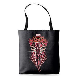 Captain Marvel Shining Captain Marvel Badge Tote Bag - Customizable