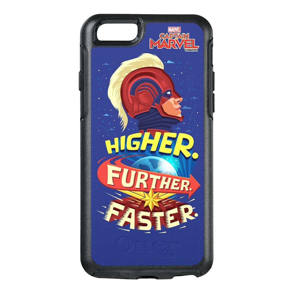 Marvel's Captain Marvel Higher Further Faster Symmetry iPhone 8/7 Phone Case by OtterBox  Customizable Official shopDisney