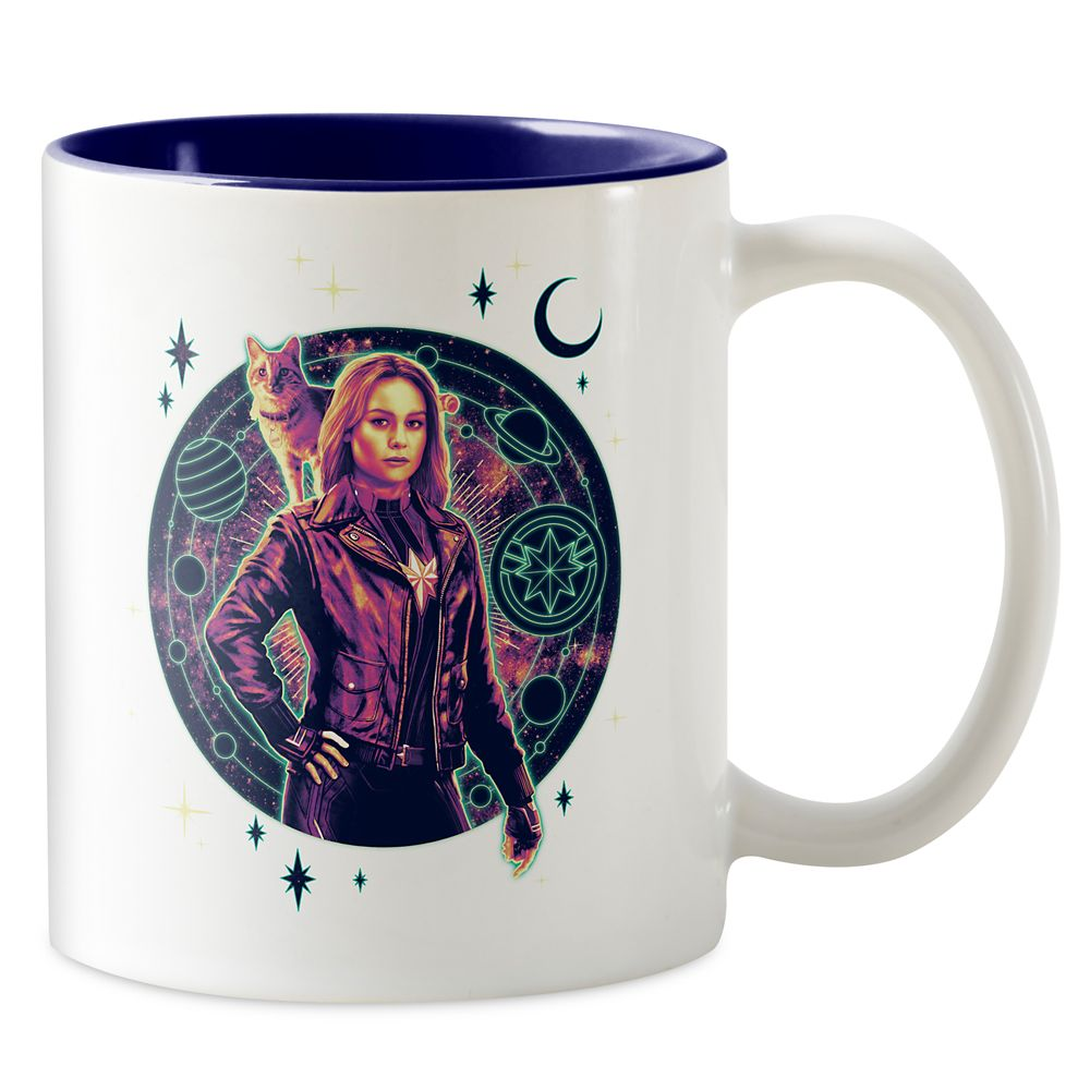 Marvel's Captain Marvel Galactic Goose & Carol Graphic Two-Tone Coffee Mug – Customizable