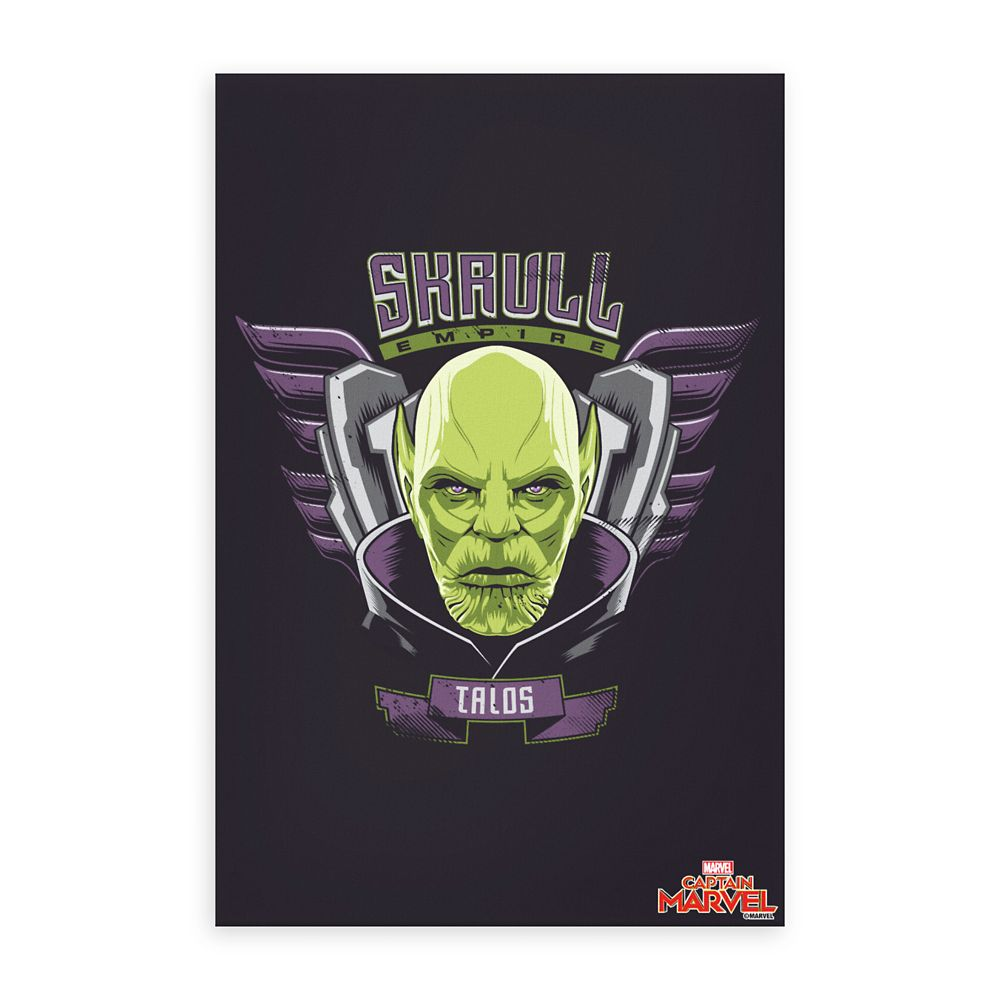 Marvel's Captain Marvel Skrull Empire Talos Graphic Canvas Print – Customizable
