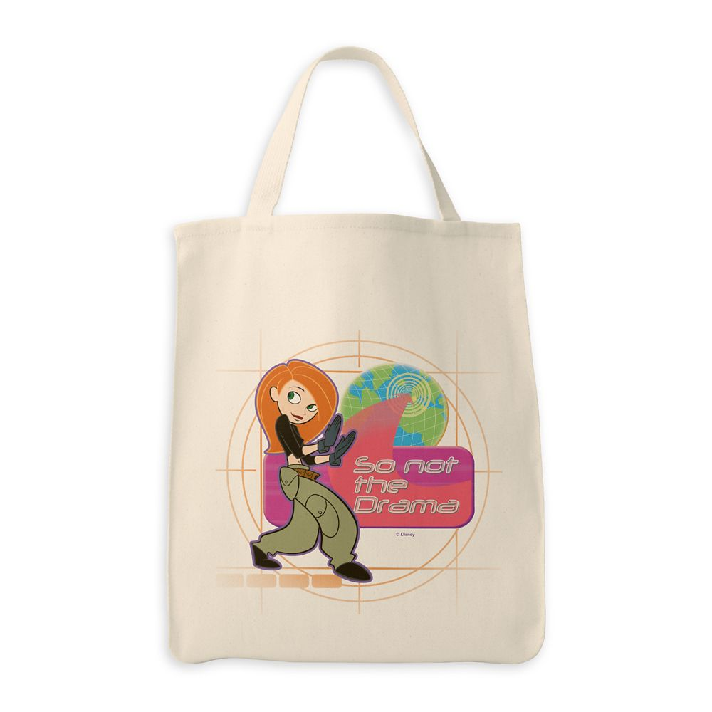 Kim Possible Globe Map ''So Not The Drama'' Tote Bag – Customized
