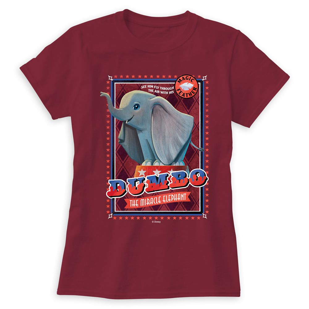 Dumbo ''The Miracle Elephant'' Circus Art T-Shirt for Women – Live Action Film – Customized