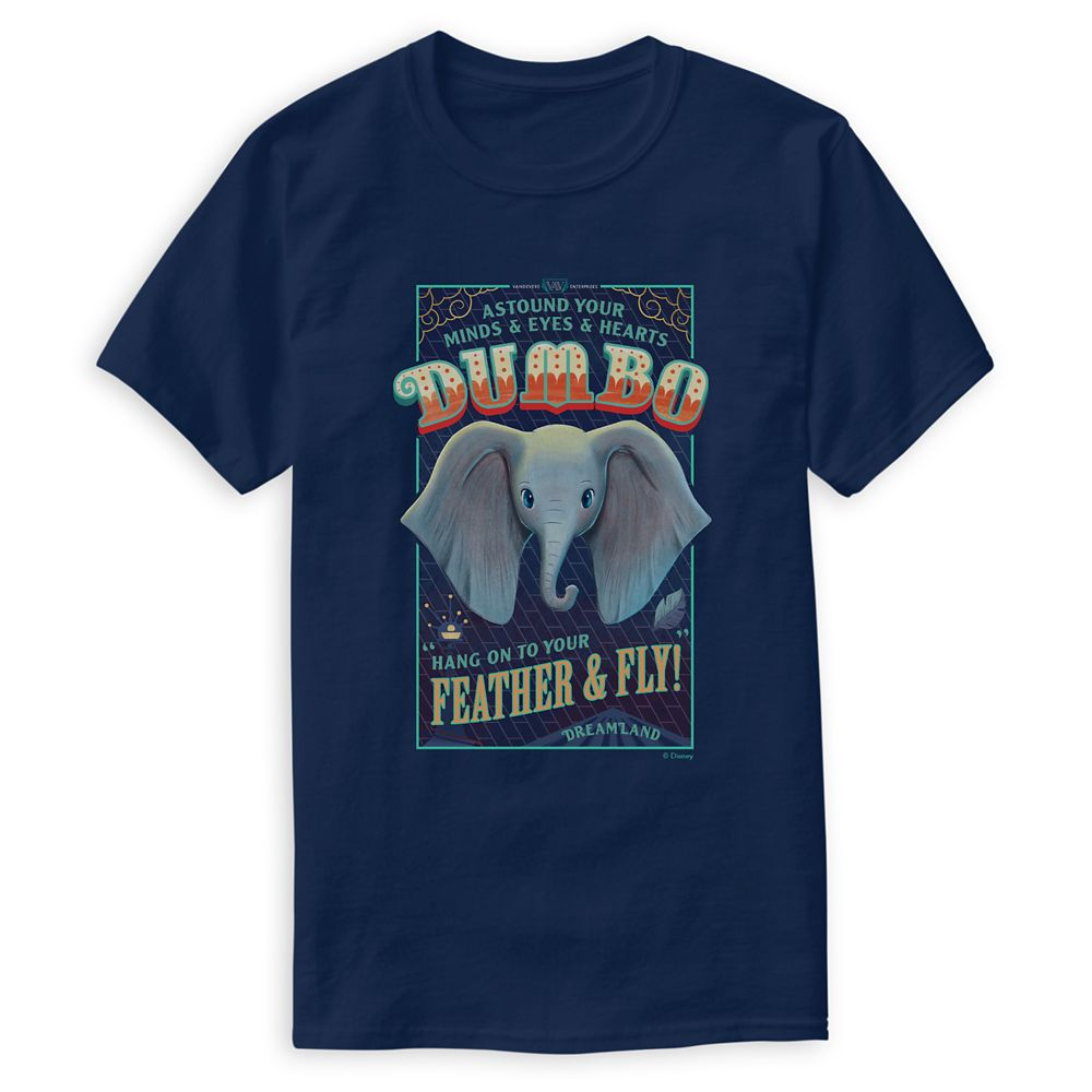 Dumbo ''Hang on to Your Feather & Fly!'' T-Shirt for Men – Live Action Film – Customized