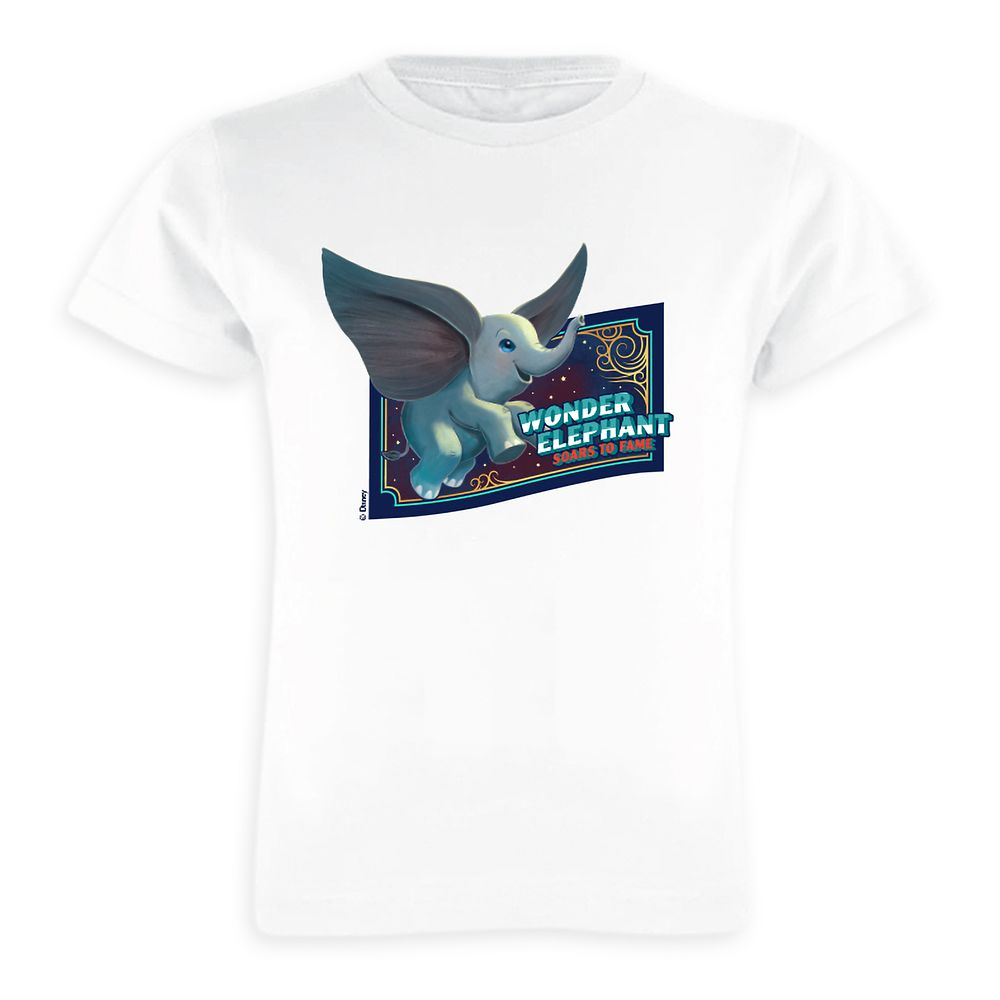Dumbo ''Wonder Elephant Soars to Fame'' Circus Art T-Shirt for Girls  – Live Action Film – Customized
