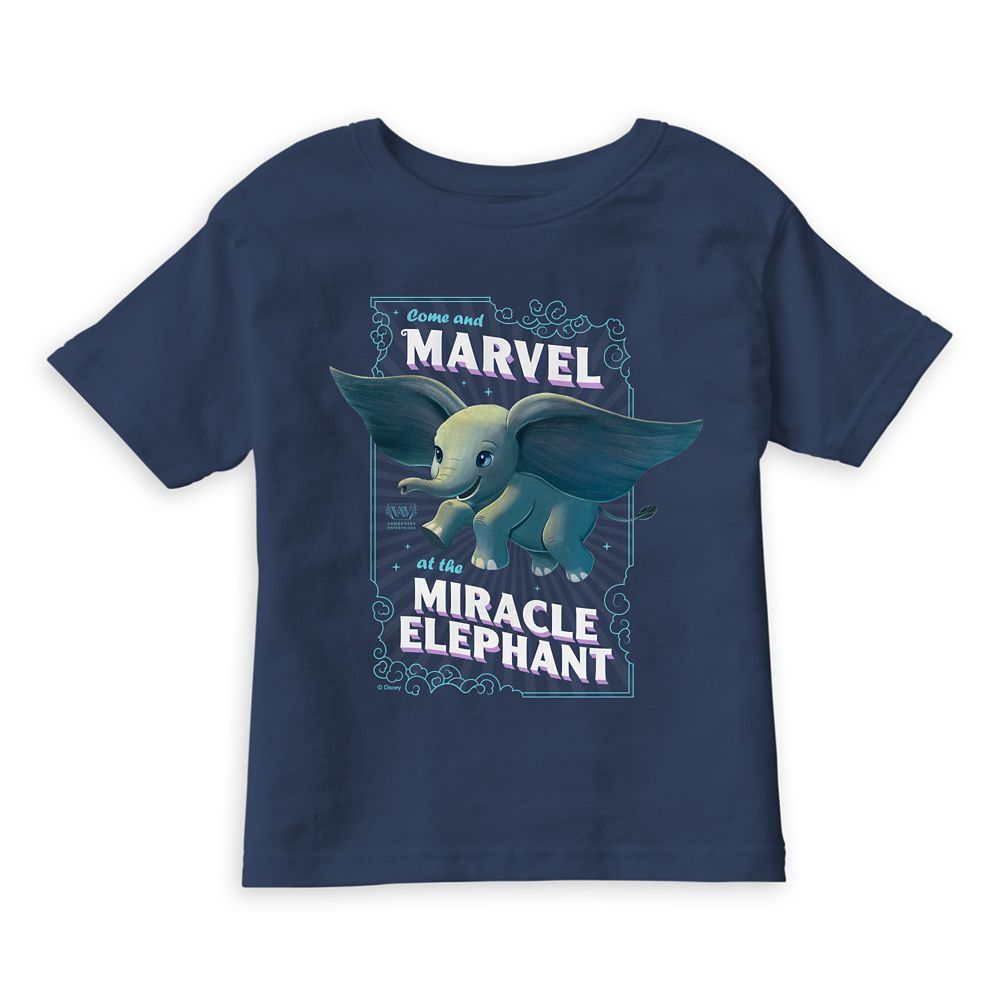 Dumbo ''Come and Marvel at the Miracle Elephant'' Circus Art T-Shirt for Boys  Live Action Film  Customized Official shopDisney