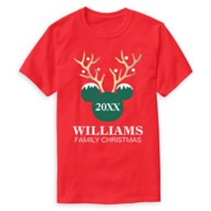 Mickey Mouse Icon Holiday Family T-Shirt for Men – Customizable