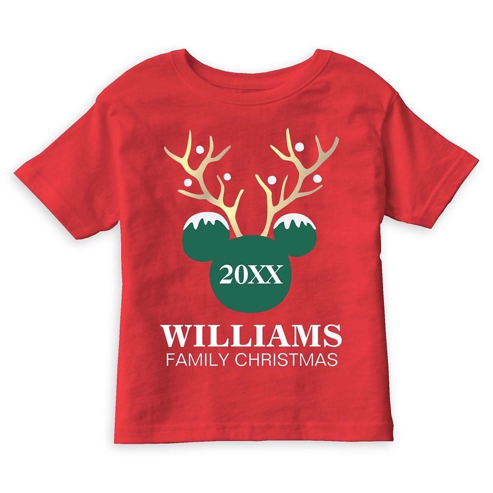 Mickey Mouse Icon Holiday Family T-Shirt for Boys – Customizable