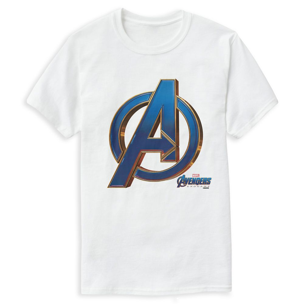 Marvel's Avengers: Endgame – Avengers Blue & Gold Logo T-Shirt for Men – Customized