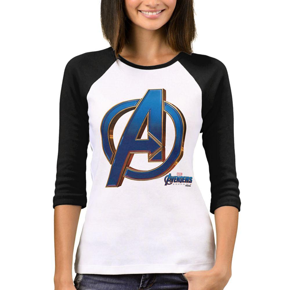 Marvel's Avengers: Endgame  Avengers Blue & Gold Logo T-Shirt for Women  Customized Official shopDisney