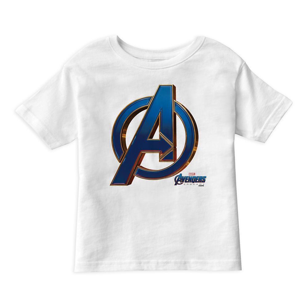 Marvel's Avengers: Endgame – Avengers Blue&Gold Logo T-Shirt for Boys – Customized