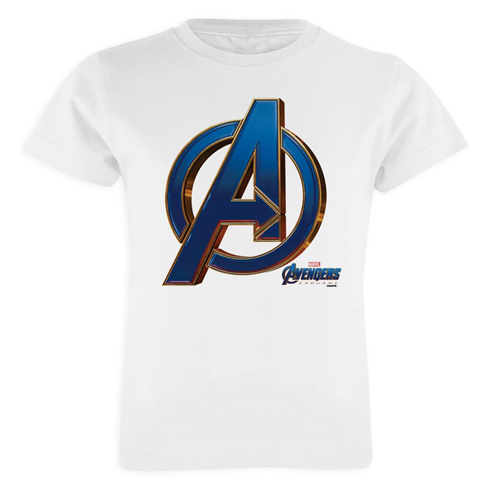 Marvel's Avengers: Endgame – Avengers Blue&Gold Logo T-Shirt for Girls – Customized