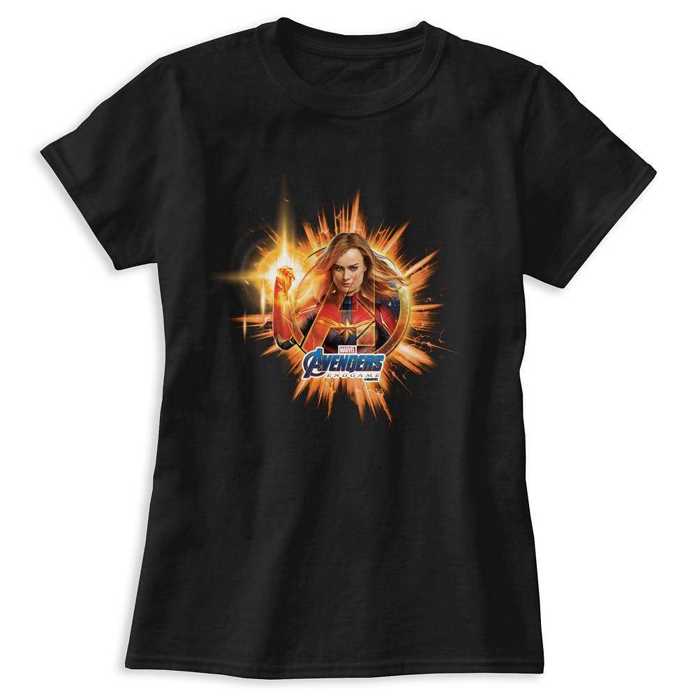 Marvel's Avengers: Endgame – Captain Marvel Avengers Logo T-Shirt for Women – Customized
