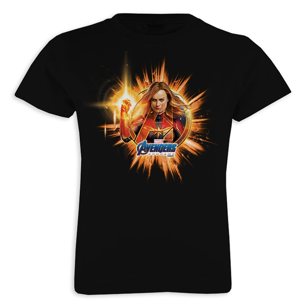 Marvel's Avengers: Endgame – Captain Marvel Avengers Logo T-Shirt for Girls – Customized