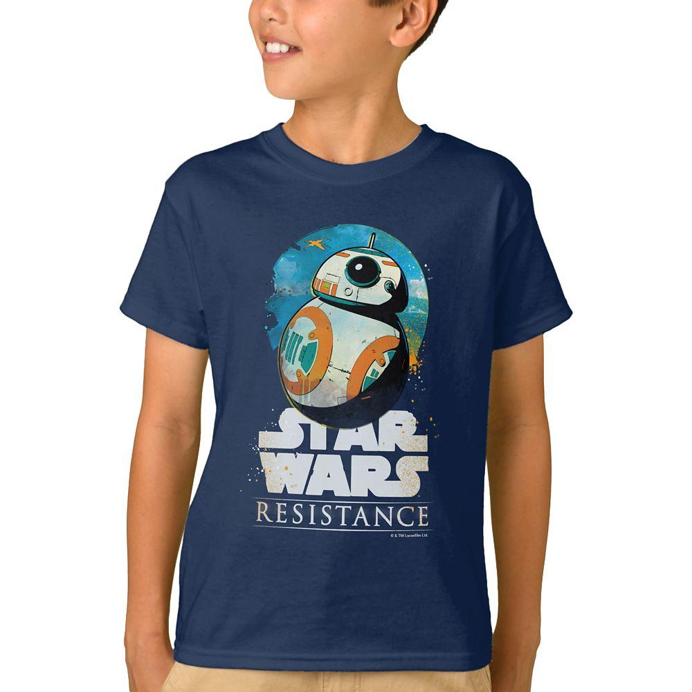 shopdisney.com - BB-8 Badge T-Shirt for Boys  Star Wars: Resistance  Customized Official shopDisney 16.95 USD